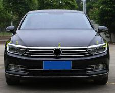 Front Upper Grille&Headlight Eyelid Strip Trim*3 For Volkswagen Passat B8 17-18