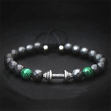 Power gioiello braccialetto in agento Barra Ciondolo Ematite regalit Perle