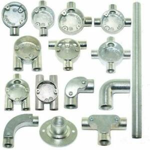 20mm or 25mm Galvanised Metal Conduit Boxes, Bends & Accessories, Brass Bushes
