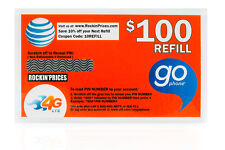 AT&T Go phone Refill PIN - Physical refill card Top Up 1 Year US Seller ATT