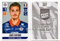 "RARE !! Sticker ROOKIE Joris CHOTARD ""FRENCH FOOT 2020-2021"" Panini"