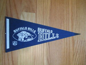 "Late 1960-70s BUFFALO BILLS 11.75"" Mini Football Pennant"