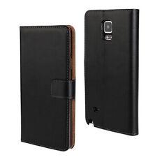 Per Samsung Galaxy Note 4 custodia in pelle a portafoglio nero flip case cover