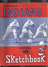 1960 CLEVELAND INDIANS OFFICIAL SKETCH BOOK