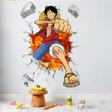Luffy Wall Stickers 3D Decals Wallpaper Mural Art Poster Decor For Kid Bedroom