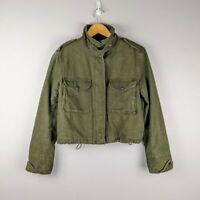 Rag & Bone Women's Fatigue Green High Neck Utility Jacket Size M