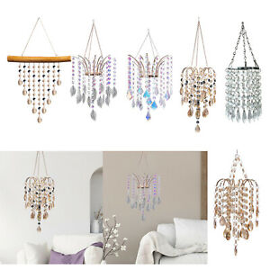 Crystal Chandelier Style Ceiling Light Shade Sparkling Droplet Lampshade