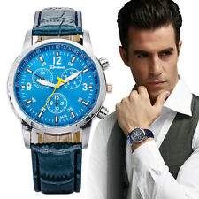 Luxury Faux Crocodile Leather Mens Watches Quartz Analog Watch Watches New