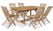 KMH® Teak Gartensitzgruppe Sitzgarnitur Stuhl Tisch ausziehbar rechteckig Holz