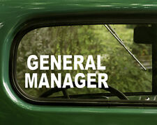 General Manager Sticker Sign 2 for Business, Home, Windows