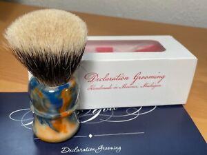 "Declaration Grooming B4 Shaving Brush, 26mm, ""Tide Pods"" Dogwood Handle"