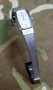 ladies vintage seiko silver tone bracelet dress watch *working order* 12mm
