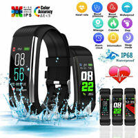 Waterproof Sports Smart Watch Fitness Tracker Heart Rate Monitor for iOS Android