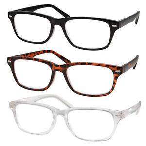 3 Pack | +4.50 | High Magnification Power Readers Slim Reading Glasses Black