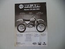 advertising Pubblicità 1979 MOTO BETA CR 250/500