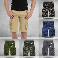 Homme d'Été Casual Short de Camouflage Cargo Milti-Poches  Short Coton Extérieur