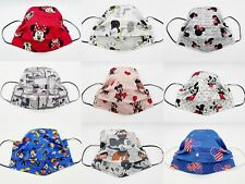 ADULT/CHILD Disney MICKEY MOUSE / MINNIE MOUSE Pleated Face Mask / 100% Cotton