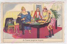 CPM HUMOUR Grosse femme salle de jeu roulette hommes je l aurai jusqu au trognon
