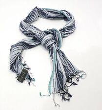 Eddie Bauer mujer bufanda pañuelo del Cuello Turquesa Gris 100% Algodón