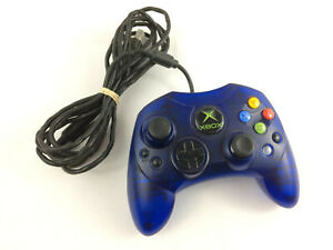 Original Xbox Blue S Controller w/ Quick Disconnect Plug - TESTED, Free Ship -