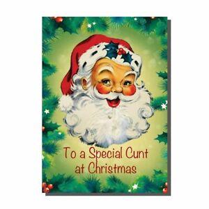 Funny Rude Naughty Father Christmas Santa Christmas Card