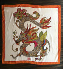 Vintage Gump'S Valentina Signature Dragon Print 100% Silk Scarf 34x35�
