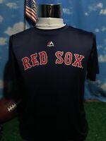 Boston Red Sox David Ortiz majestic Blue medium Shirt T-Shirt dri-fit C23