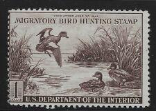 US Scott #RW9, Single 1942 Baldpates $1 Fine MNH
