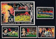 Football Dahomey 605-9+ Block 49 B - WM 1974 Germany