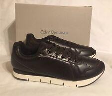 Calvin Klein Joshuah Baby Calf Leather Trainer Shoes S0366 Uk 9 Eu 43 Us 10 BNIB