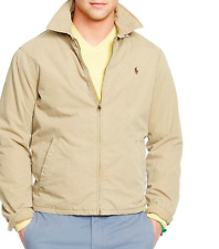 Polo Ralph Lauren Mens LANDON Poplin Cotton Windbreaker Jacket Khaki L $165