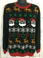 Ugly Christmas Sweater Pullover Size XL Mens Womens Santa Deer Tree Snowflake