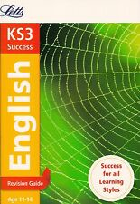 Letts KS3 Success English Revision Guide Age 11-14 BRAND NEW BOOK (P/B 2014)