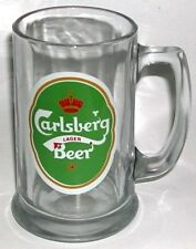 BEER DRINKING GLASS MUG CARLSBERG LAGER BERR CROWN