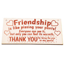 Friendship Thank you Best Friend Plaque Wooden Hanging Board Home Party Decal GS