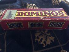 Vintage 1968 Wooden Dominoes Halsam Complete 610W