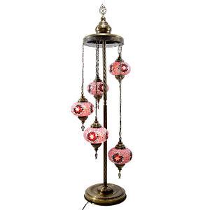 5 Globes Mosaic Multi-Color Desk Lamp Pendant Lantern Lights Home Decorative Art