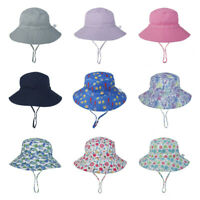 Child Boys Girls Bucket Hat Solid Color/Printed Summer Outdoor Sun Cap 46-54cm