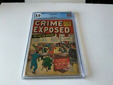 CRIME EXPOSED 2 CGC 3.0 PRE CODE CRIME NEW YORK MAD DOGS PSYCHIATRY MARVEL 1951