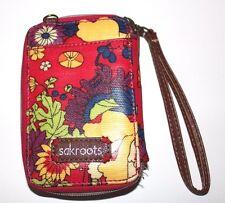 Sakroots Smartphone Wristlet Zip Wallet Purse Flower Power Artist Circle Travel