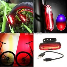 LED Waterproof Bike Bicycle Cycling Front Rear Tail Helmet Light USB Charge AU