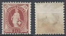 Schweiz Switzerland Helvetia 1891 30c (*) MNG