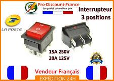 1 interrupteur avec voyant à bascule 15A 250V - 20A 125V 3 positions 6 pins