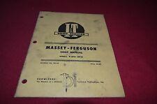 Massey Ferguson 25 130 Tractor I&T Shop Manual YABE8