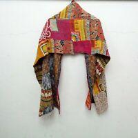 Cotton Kantha Scarf Head Wrap Stole Dupatta Hand Quilted beauty headband SL08