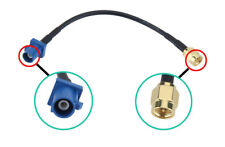 Car Blue Fakra Male C connector RF Extension Auto Antenna GPS Adapter SMA Male