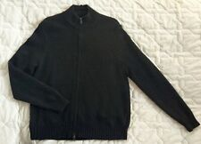 Polo cashmere blend black thick turtleneck full zip sweater size L- XL