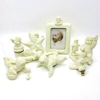 Department 56 Snowbabies Photo Frame Holds Star Bright Icicle Ornament Lot Of 8