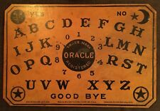 RARE DOUBLE/TWO-SIDED ORACLE-OUIJA BOARD WITH ORIGINAL LONG LEG PLANCHETTE, WOOD