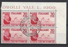 Italia Repubblica 1949 Fiera Levante di Bari in Quartina USATI